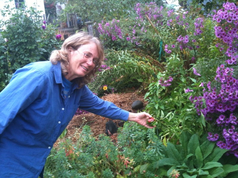 Mary Lea in her Garden