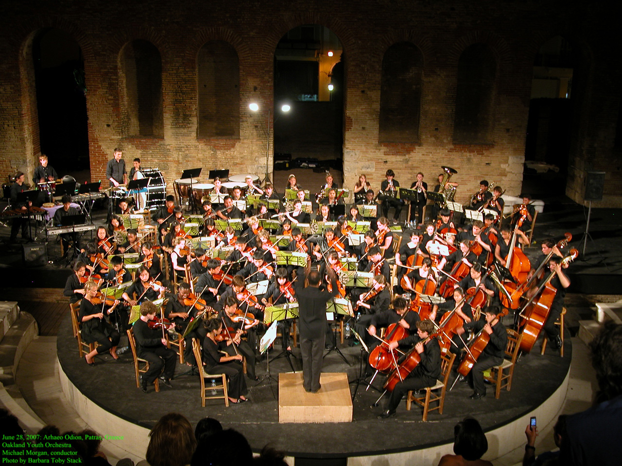 June 28, 2007: Patra, Greece: Oakland Youth Orchestra Concert