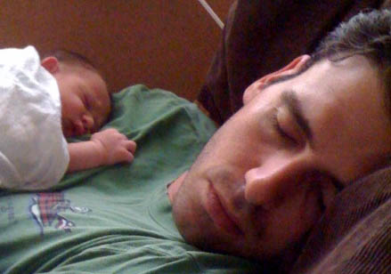 Jeff and Asa just born